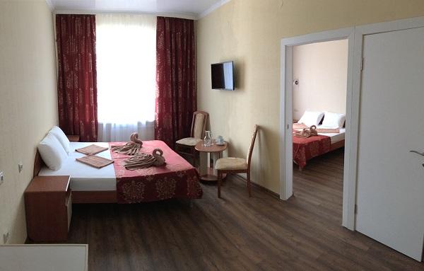 Стандарт 4-местный 2-комнатный без балкона