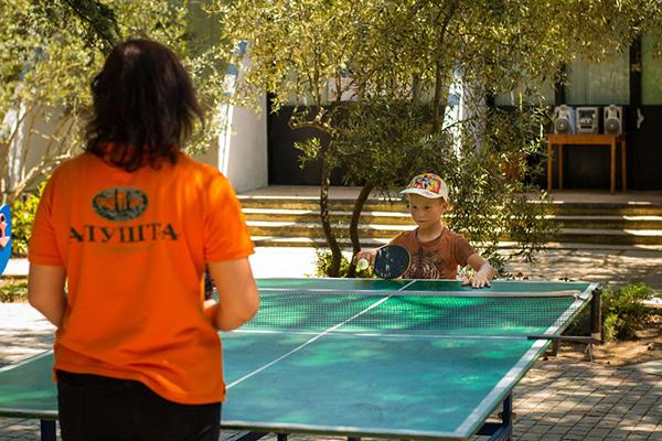 Детская площадка, настольный теннис_