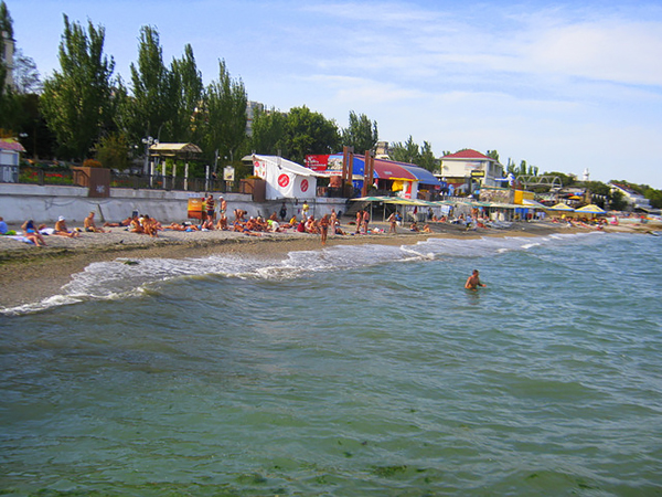 Центр город.пляж Феодосии