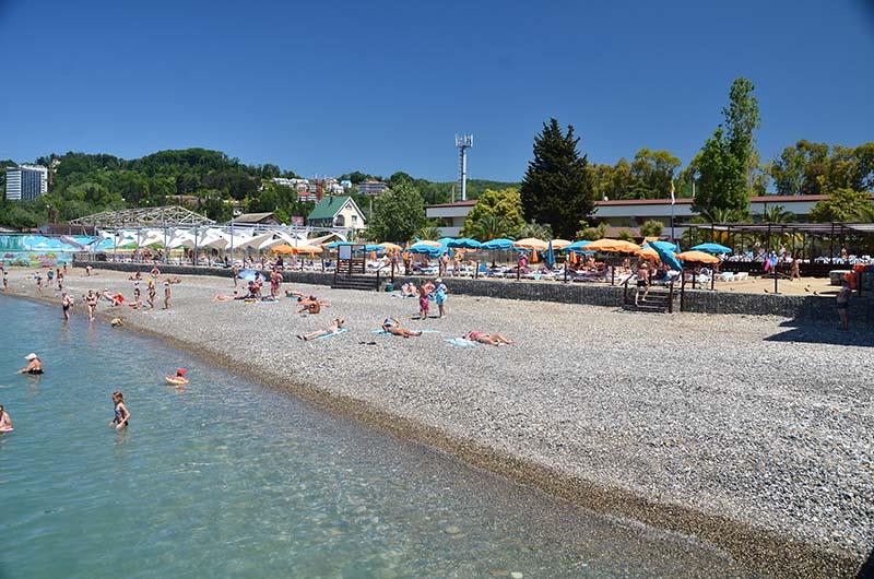 Пляж Пансионата отдыха «Бургас»