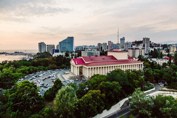 Вид с панорамного этажа отеля