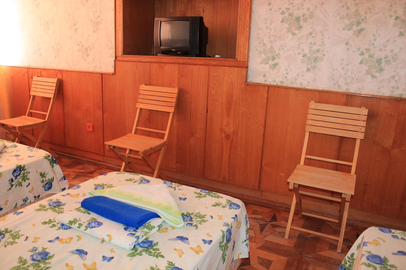 Стандартный 3-местный 1-комнатный (вид на море)
