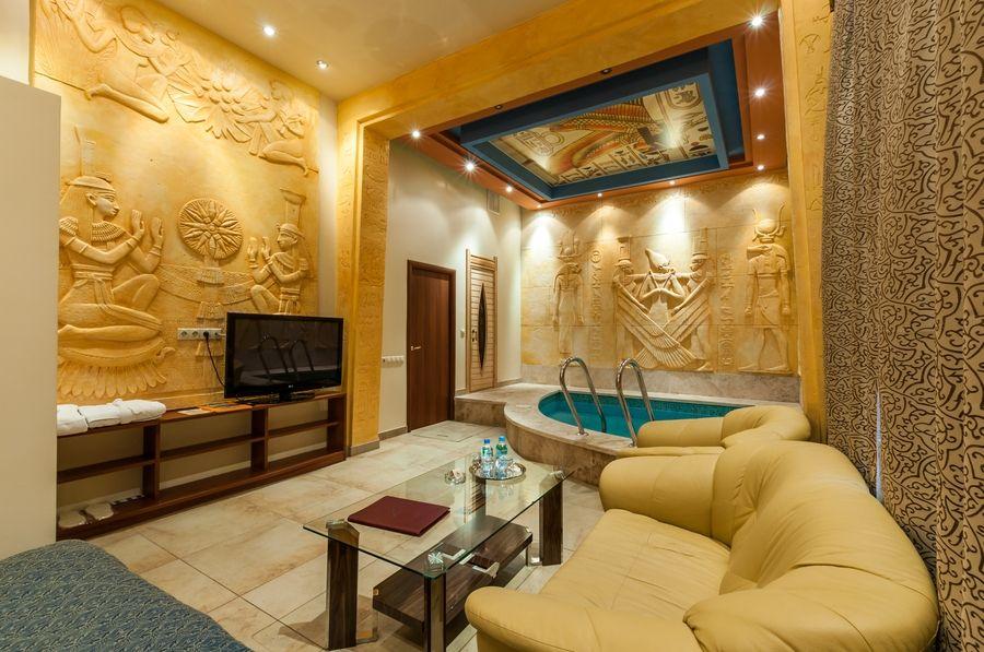 египетский стиль в гостиной фото