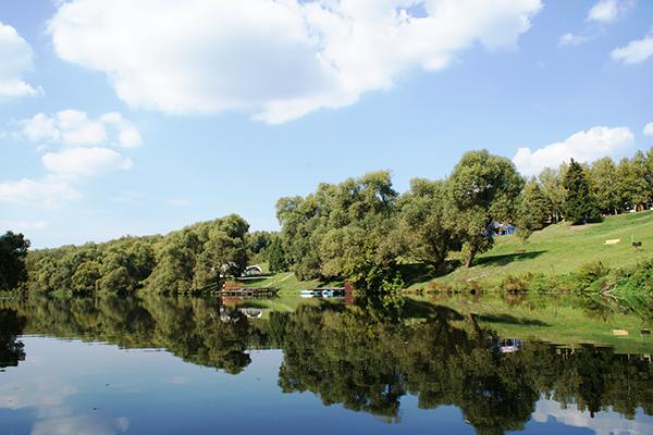 Вид на территорию со стороны реки